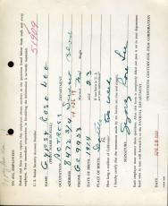 GYPSY ROSE LEE PSA DNA Hand Signed 1937 20th Century Fox Contract Autograph