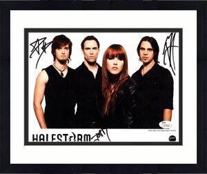 """HALESTORM Signed Autographed 8X10 Photo """"LZZY HALE +3"""" JSA #V77504"""