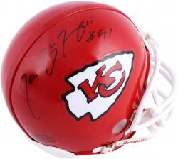Tamba Hali Kansas City Chiefs Autographed Riddell Mini Helmet - Mounted Memories