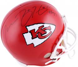 Tamba Hali Kansas City Chiefs Autographed Riddell Replica Helmet - Mounted Memories