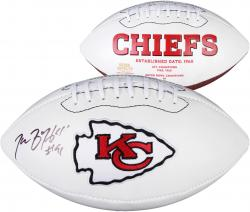 Tamba Hali Kansas City Chiefs Autographed White Panel Football - Mounted Memories