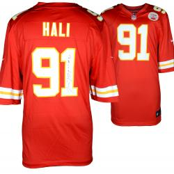 Tamba Hali Kansas City Chiefs Autographed Nike Replica Red Jersey - Mounted Memories