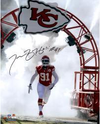 "Tamba Hali Kansas City Chiefs Autographed 16"" x 20"" White Smoke Photograph"