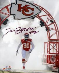 "Tamba Hali Kansas City Chiefs Autographed 8"" x 10"" White Smoke Photograph"