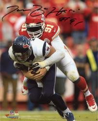 "Tamba Hali Kansas City Chiefs Autographed 8"" x 10"" Photograph"