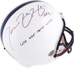 Tamba Hali Penn State Nittany Lions Autographed Riddell Replica Helmet with We Are Penn State Inscription