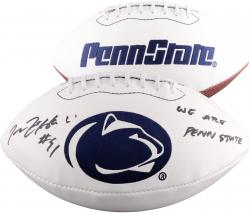 Tamba Hali Penn State Nittany Lions Autographed White Panel Football with We Are Penn State Inscription