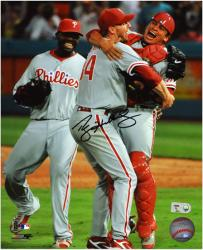 Roy Halladay Philadelphia Phillies Perfect Game Autographed 8'' x 10'' Photograph - Mounted Memories