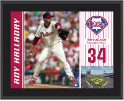 "Roy Halladay Philadelphia Phillies Sublimated 10"" x 13"" Plaque - Mounted Memories"