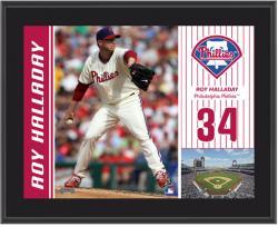 """Roy Halladay Philadelphia Phillies Sublimated 10"""" x 13"""" Plaque"""