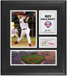 "Roy Halladay Philadelphia Phillies Framed 15"" x 17"" Collage with Game-Used Baseball - Mounted Memories"