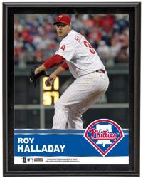 """Roy Halladay Philadelphia Phillies Sublimated 10.5"""" x 13"""" Plaque"""