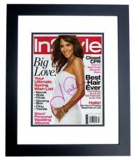 Halle Berry Autographed InStyle Magazine Cover - BLACK CUSTOM FRAME