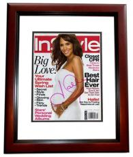 Halle Berry Autographed InStyle Magazine Cover - MAHOGANY CUSTOM FRAME
