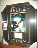 Halle Berry Catwoman Movie Signed Autographed Double Matted 18x23 Framed Jsa Coa
