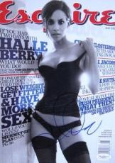 Halle Berry SEXY Signed NO LABEL ESQUIRE Magazine JSA