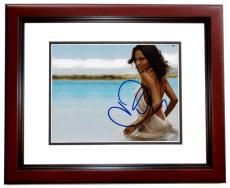 Halle Berry Signed - Autographed Sexy 8x10 Photo MAHOGANY CUSTOM FRAME