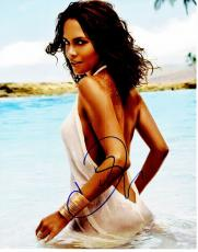 Halle Berry Signed - Autographed Sexy at the Beach 11x14 inch Photo - Guaranteed to pass PSA/DNA or JSA