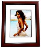 Halle Berry Signed - Autographed Sexy at the Beach 11x14 inch Photo MAHOGANY CUSTOM FRAME - Guaranteed to pass PSA/DNA or JSA