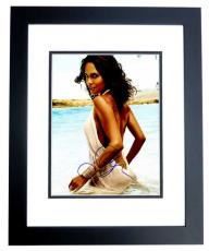 Halle Berry Signed - Autographed Sexy at the Beach 11x14 inch Photo BLACK CUSTOM FRAME - Guaranteed to pass PSA or JSA