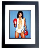 Halle Berry Signed - Autographed Sexy with Boxing Gloves 11x14 inch Photo BLACK CUSTOM FRAME - Guaranteed to pass PSA/DNA or JSA