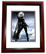 Halle Berry Signed - Autographed X-MEN - Storm 11x14 inch Photo MAHOGANY CUSTOM FRAME - Guaranteed to pass PSA/DNA or JSA