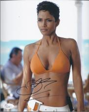 Halle Berry Signed 'die Another Day' Jinx Johnson 8x10 Photo Jsa Coa