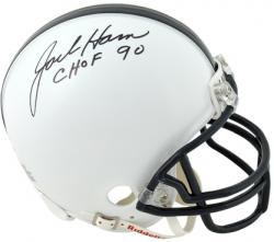 "Jack Ham Penn State Nittany Lions Autographed Mini Helmet with ""CHOF 90"" Inscription - Mounted Memories"