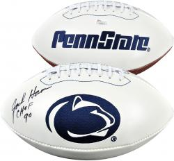 "Jack Ham Penn State Nittany Lions Autographed Football with ""CHOF 90"" Inscription - Mounted Memories"