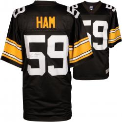 Jack Ham Pittsburgh Steelers Autographed Pro Line Black Jersey with HOF 88 Inscription - Mounted Memories