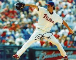 Cole Hamels Autographed Phillies 8x10 Photo