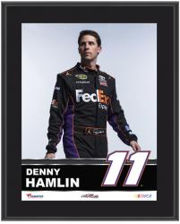 "Denny Hamlin Sublimated 10.5"" x 13"" Plaque - Mounted Memories"