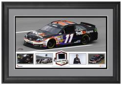 Denny Hamlin Framed Panoramic with Race-Used Tire - Limited Edition of 500 - Mounted Memories