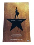 Hamilton Lin Manuel Miranda Signed Broadway Window Card Poster Autograph Bas 2