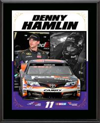 "Denny Hamlin Sublimated 10.5"" x 13"" Stylized Composite Plaque"