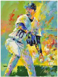 Mike Hampton Colorado Rockies Original Artwork with Malcolm Farley Signature