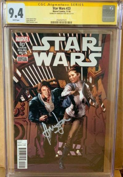 Han Solo #23 CGC 9.4 Signed by Harrison Ford Star Wars Signature Series Comic
