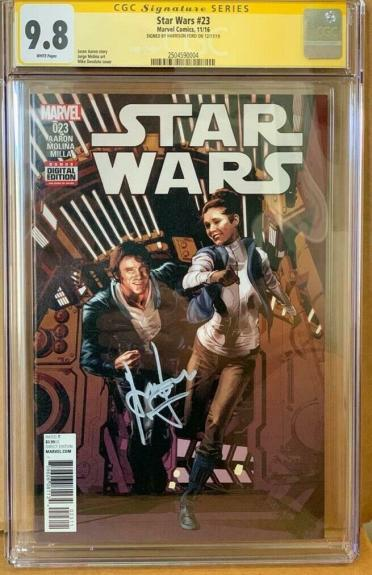 Han Solo #23 CGC 9.8 Signed by Harrison Ford Star Wars Signature Series Marvel