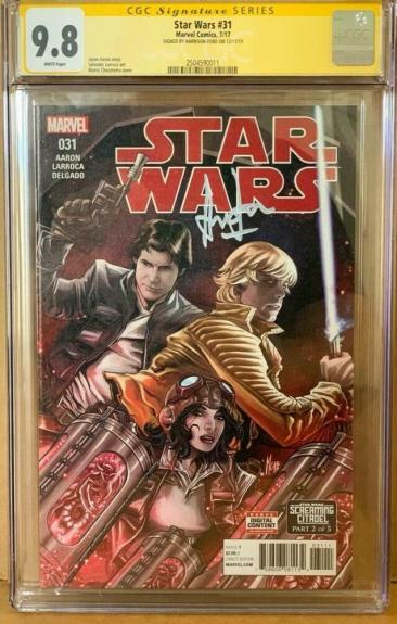 Han Solo #31 CGC 9.8 Signed by Harrison Ford Star Wars Marvel Comic Signature