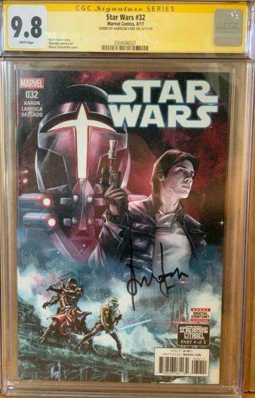 Han Solo #32 CGC Signature Series 9.8 Signed by Harrison Ford Star Wars Comic