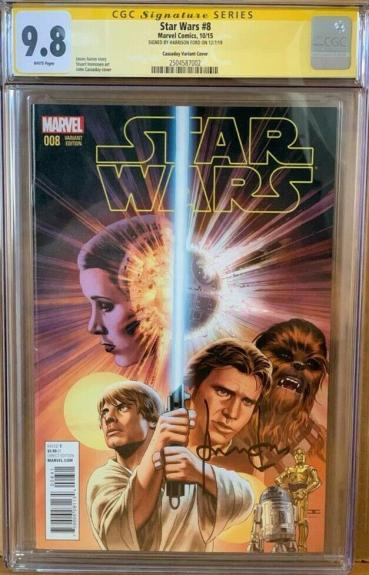 Han Solo #8 CGC Signature Series 9.8 Signed by Harrison Ford Star Wars Comic