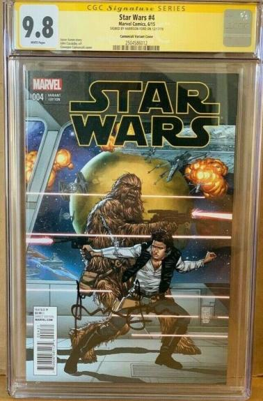 Han Solo CGC 9.8 Signed Harrison Ford Star Wars #4 Marvel Comic Signature Series