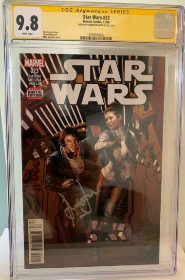 Han Solo Star Wars #23 CGC 9.8 Signed by Harrison Ford Signature Series Comic