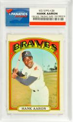 Hank Aaron Atlanta Braves 1972 Topps #299 Card - Mounted Memories