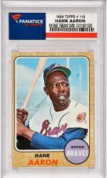 Hank Aaron Atlanta Braves 1968 Topps #110 Card 1