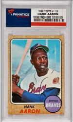 Hank Aaron Atlanta Braves 1968 Topps #110  Card 2