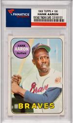 Hank Aaron Atlanta Braves 1969 Topps #100 Card