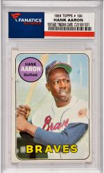Hank Aaron Atlanta Braves 1969 Topps #100 Card