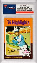 Hank Aaron Atlanta Braves 1975 Topps #1 Card