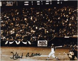 "Hank Aaron Milwaukee Braves Autographed 8"" x 10"" Photograph - Mounted Memories"